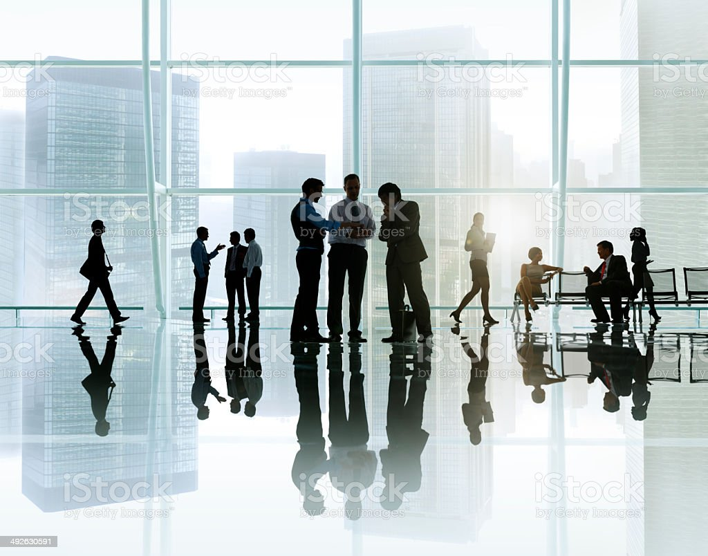 Corporate Business Meeting in a Building stock photo