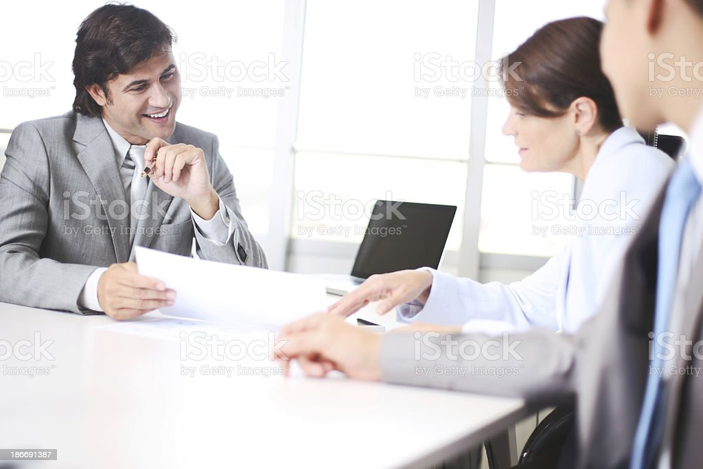 Corporate business meeting. royalty-free stock photo