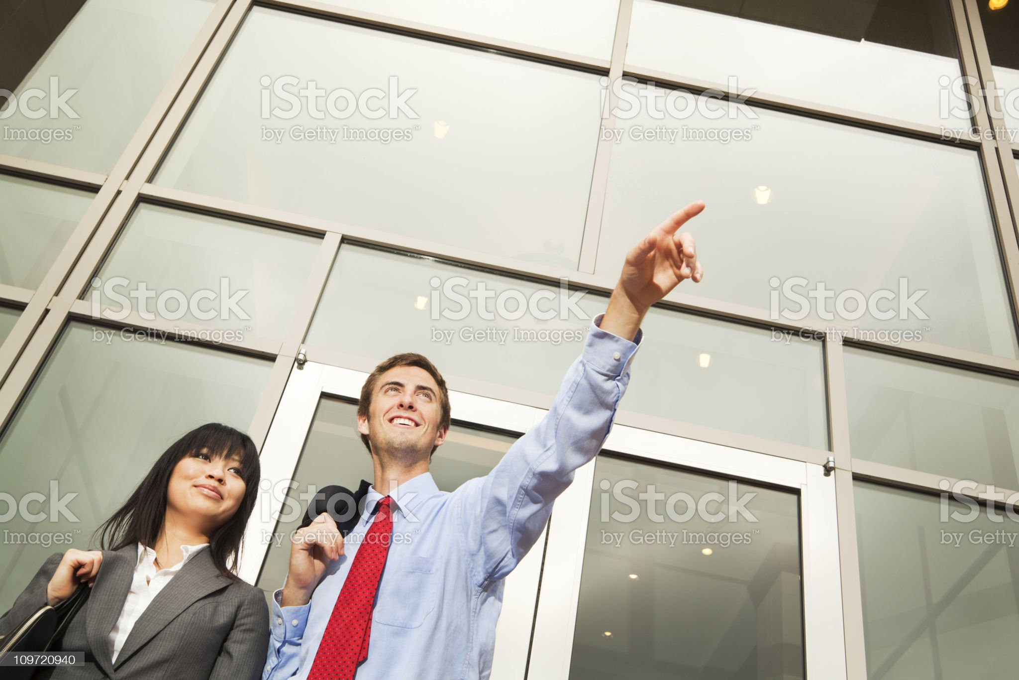 Corporate Business Office Workers Looking Forward to the Future royalty-free stock photo