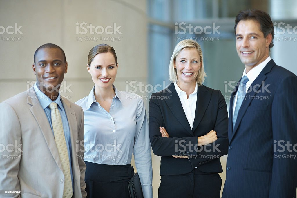 Corporate business people royalty-free stock photo