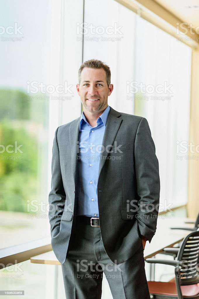 Corporate businessman in a suit and tie royalty-free stock photo