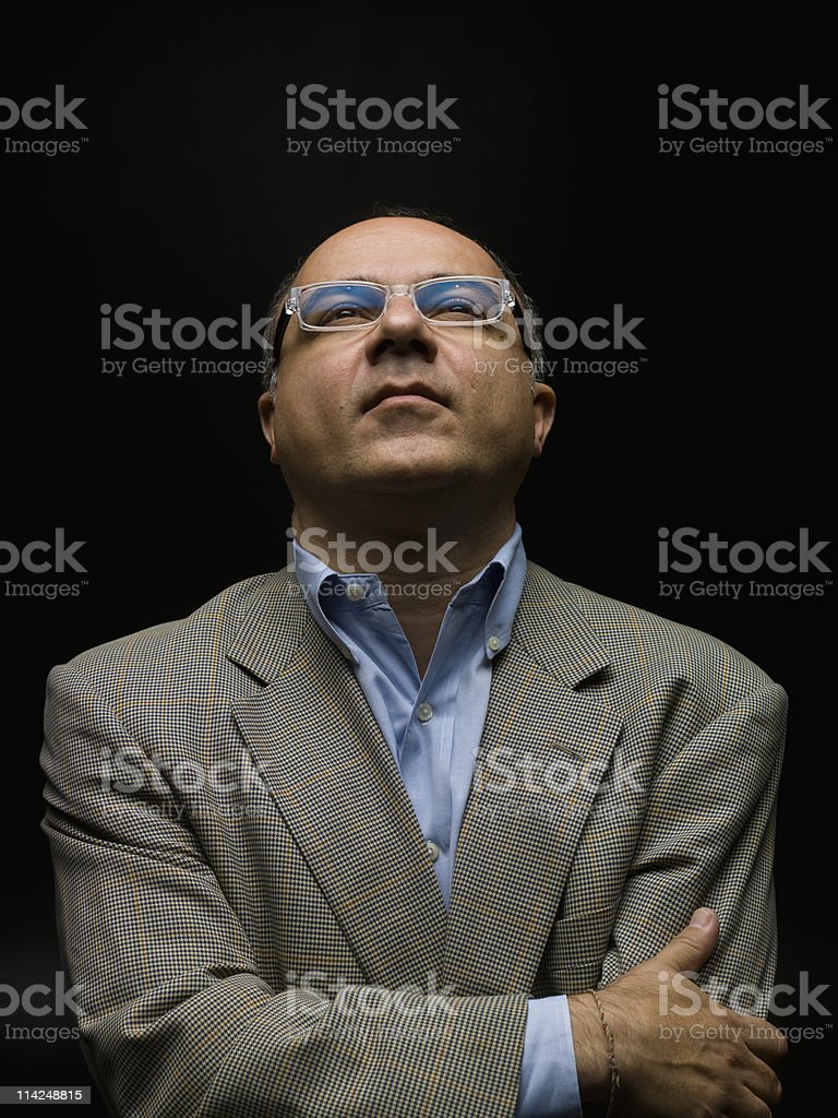 Corporate CEO, Black Background royalty-free stock photo