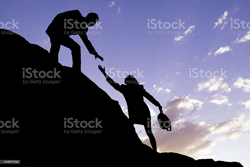 Corporate Climbers stock photo
