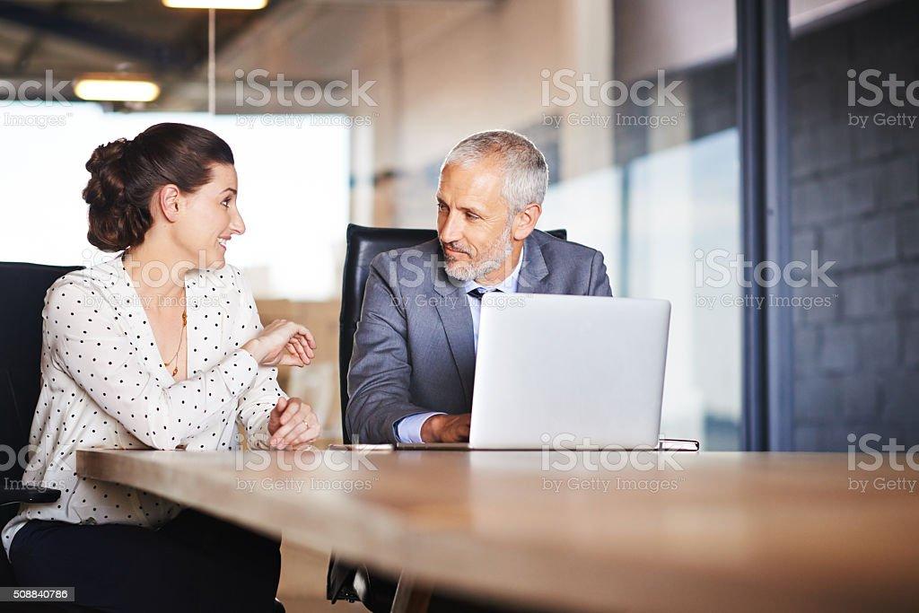 Corporate collaboration stock photo