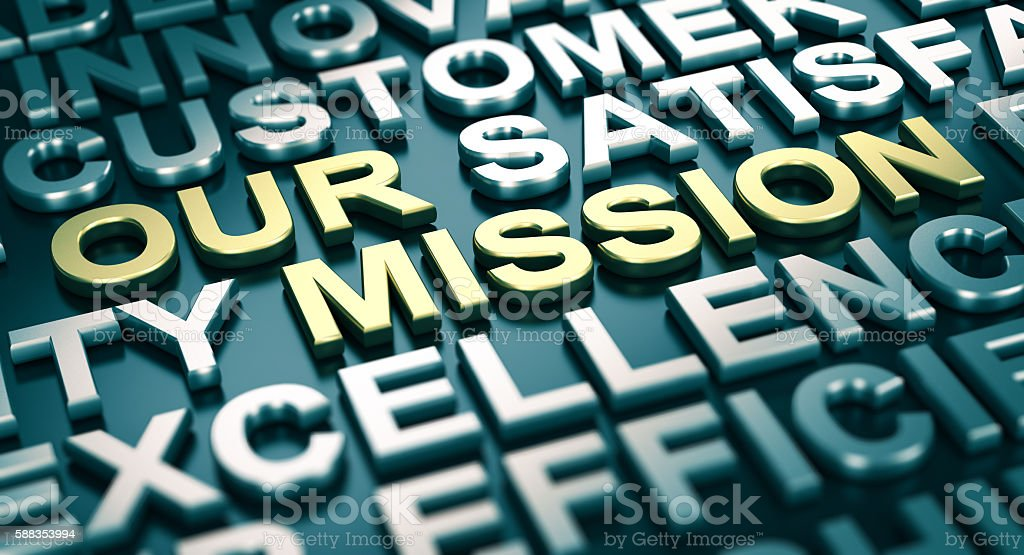 Corporate Communication Concept, Our Mission. stock photo