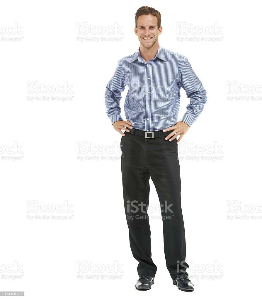 Corporate confidence from top to toe royalty-free stock photo