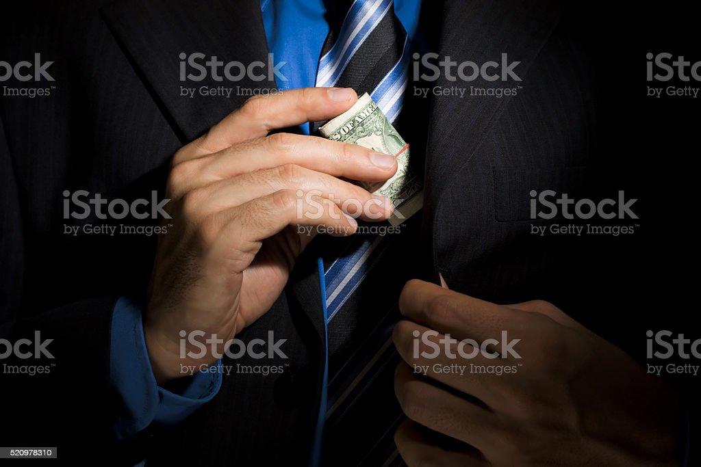 Corporate Corruption stock photo