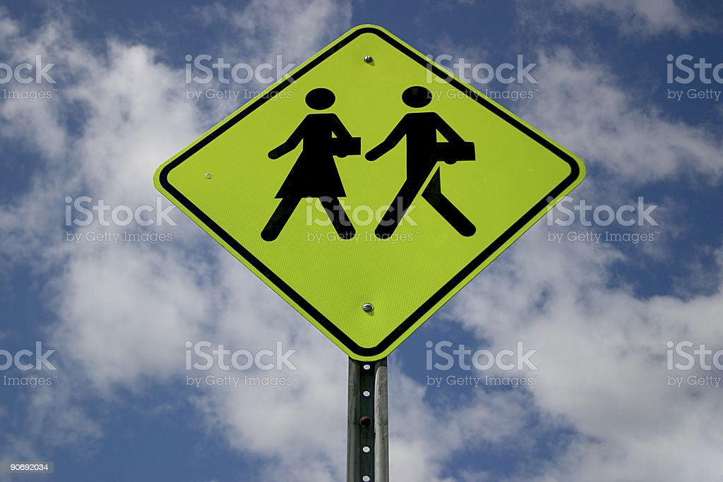Corporate, couple crossing, sign royalty-free stock photo