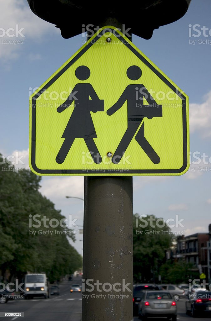 Corporate, couple crossing, Sign stock photo