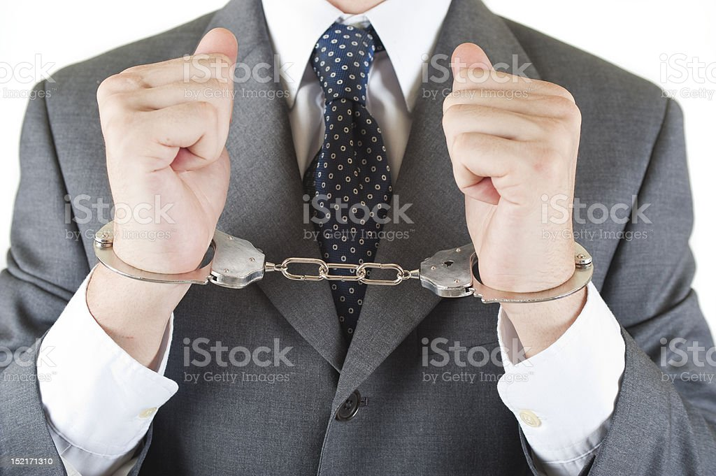 Corporate crime royalty-free stock photo