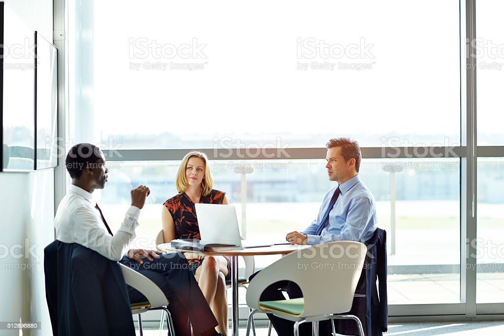 Corporate decision makers stock photo