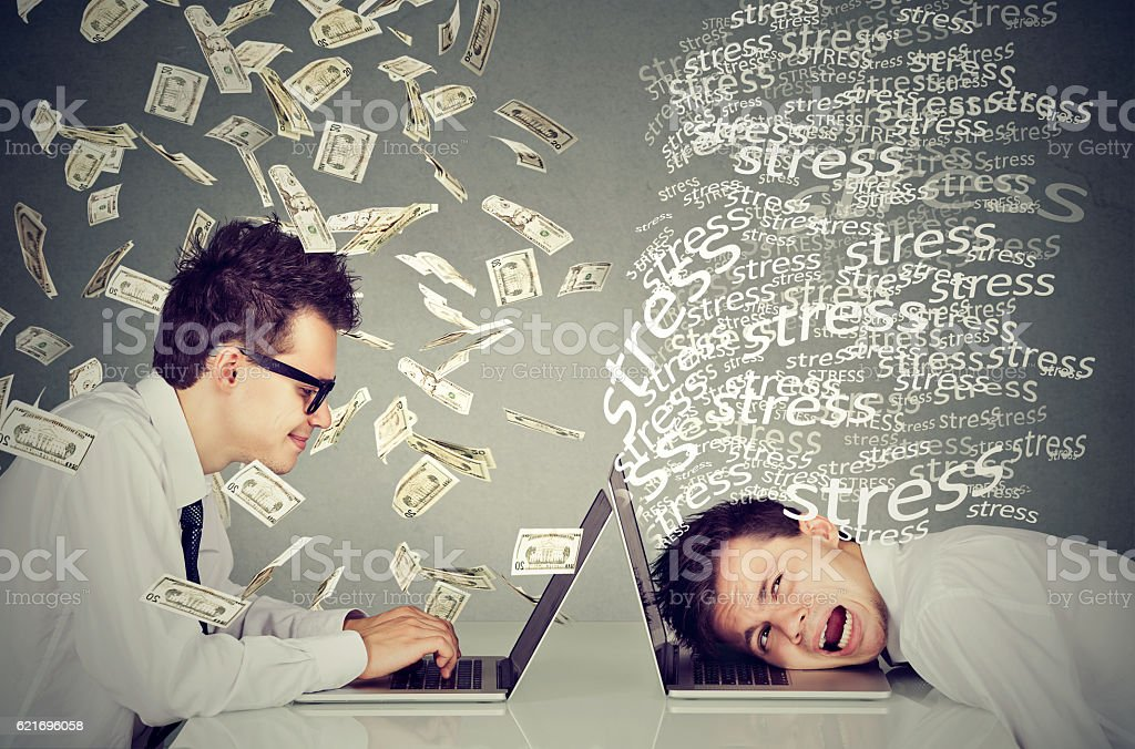 Corporate employee income compensation economy concept stock photo