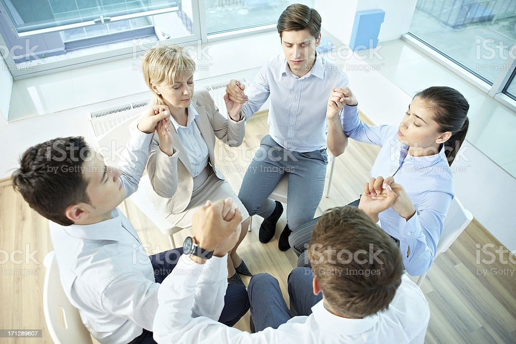 Corporate exercise royalty-free stock photo