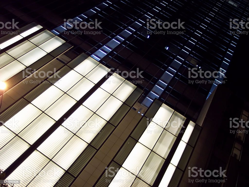 Corporate Exterior at Night royalty-free stock photo
