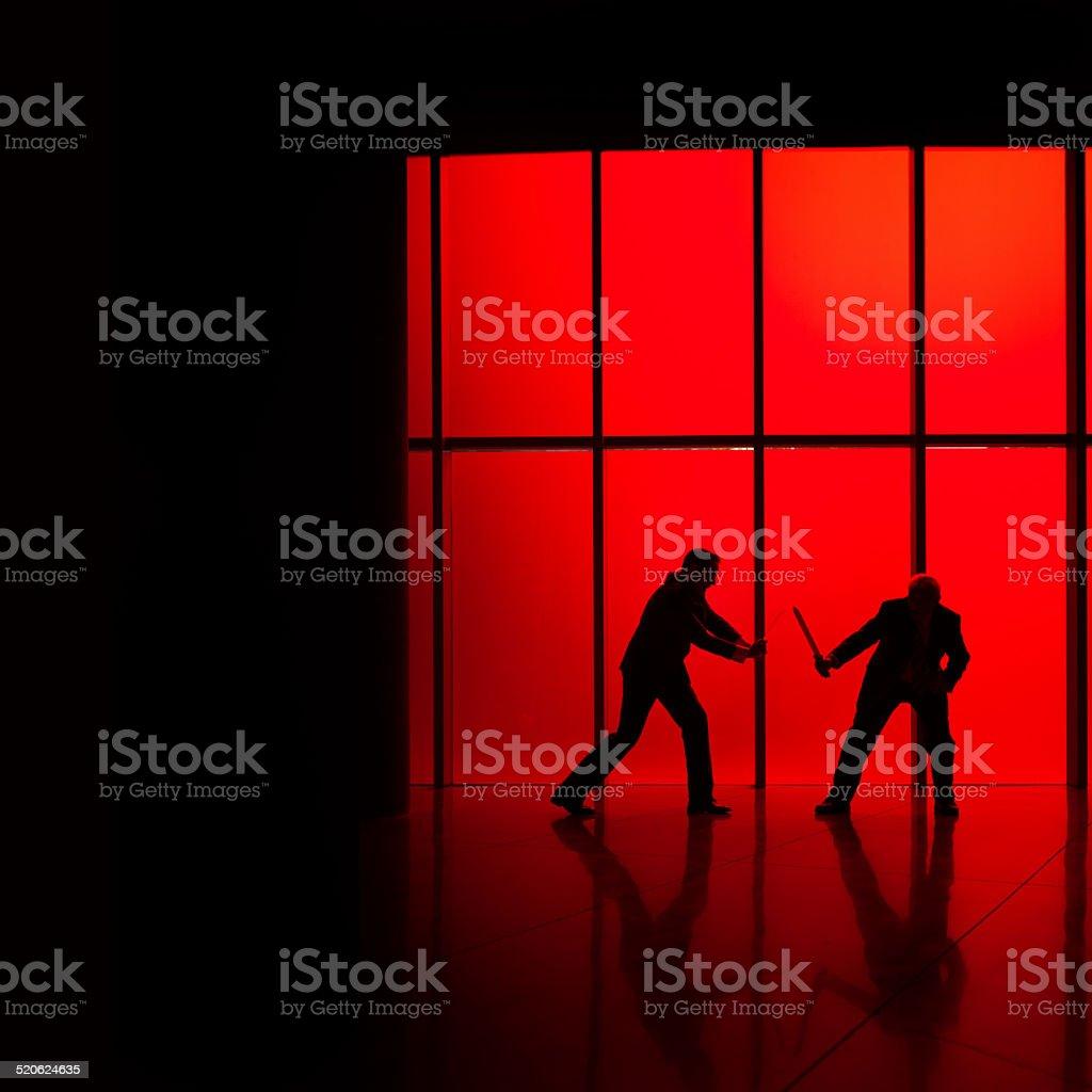 Corporate fight stock photo