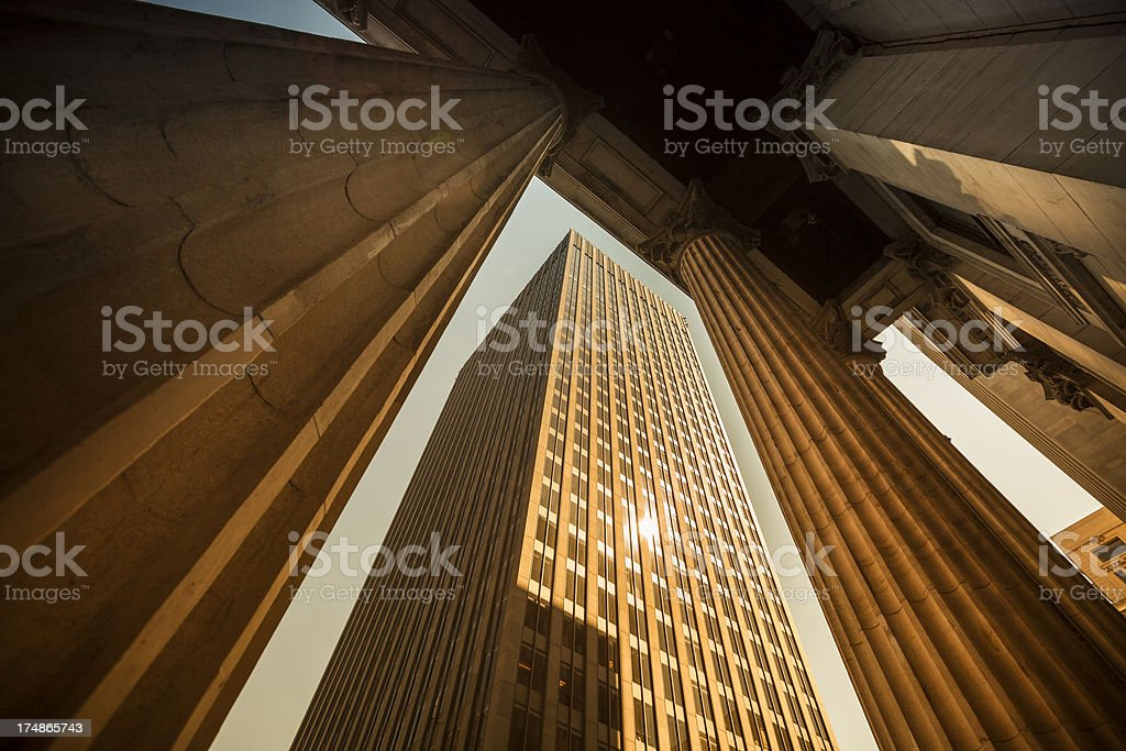 Corporate finance buildings royalty-free stock photo
