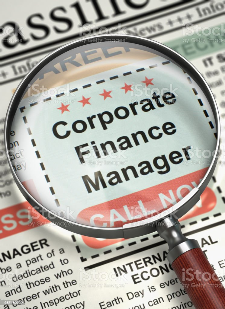 Corporate Finance Manager Join Our Team. 3D stock photo