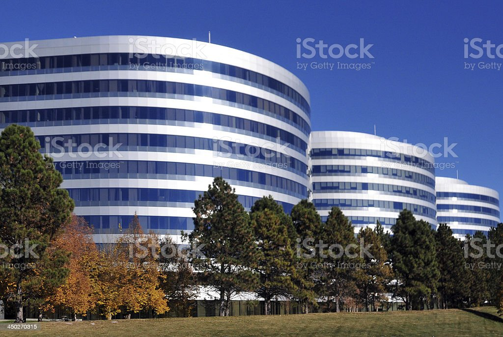 Corporate glass and steel facades royalty-free stock photo
