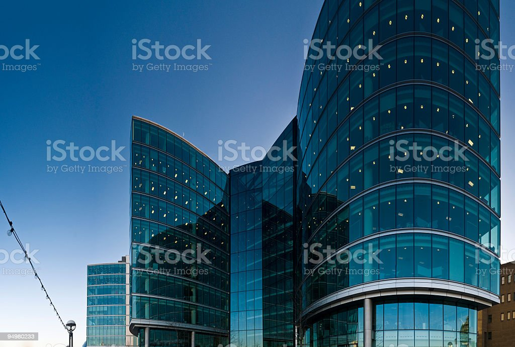 Corporate glass and steel royalty-free stock photo