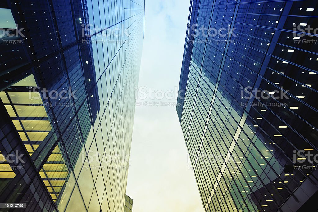 Corporate Glass Buildings, City of London royalty-free stock photo