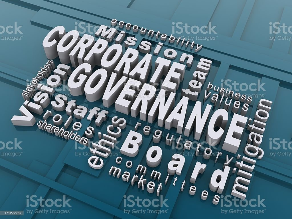 corporate governance royalty-free stock photo