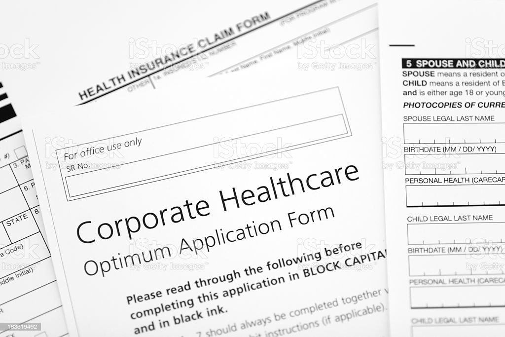 Corporate healthcare form royalty-free stock photo