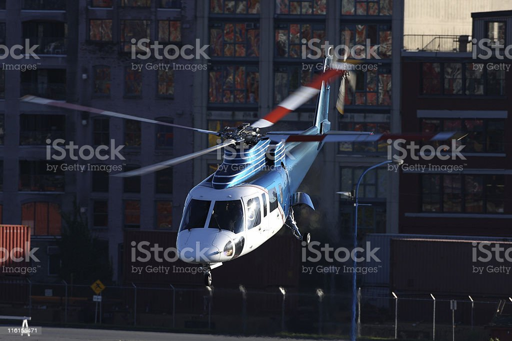 Corporate Helicopter stock photo