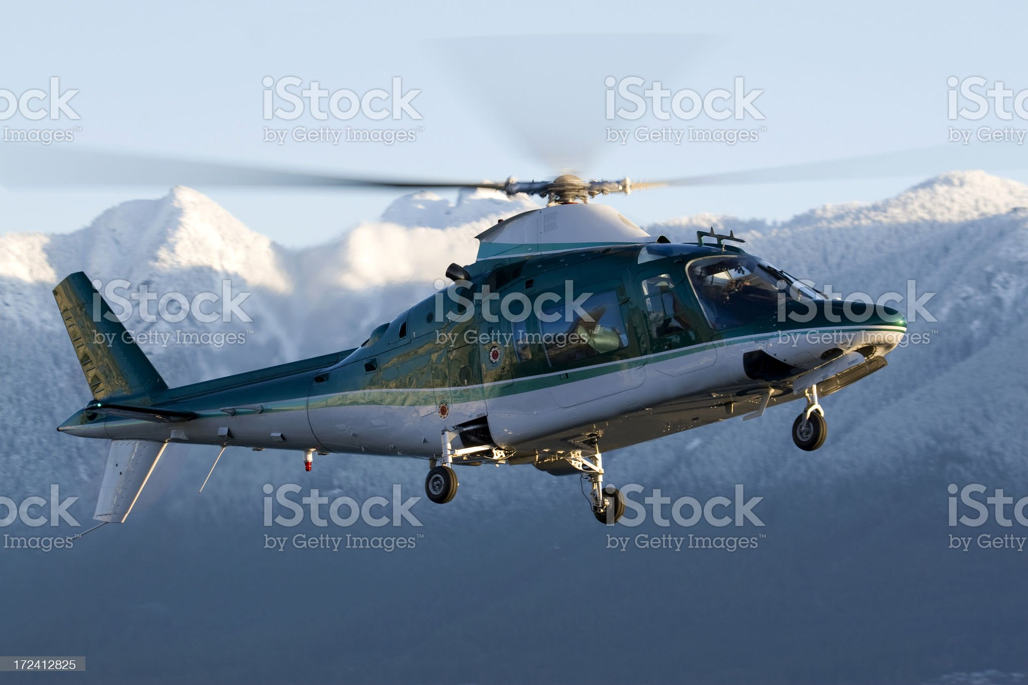 Corporate Helicopter royalty-free stock photo