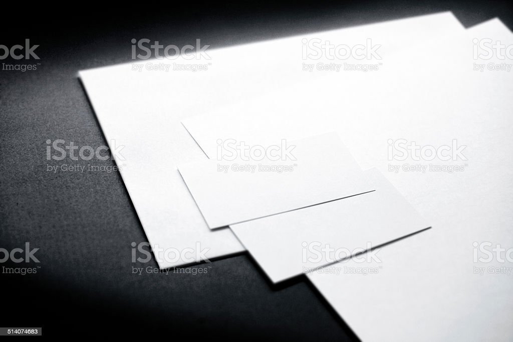 Corporate identity template stock photo