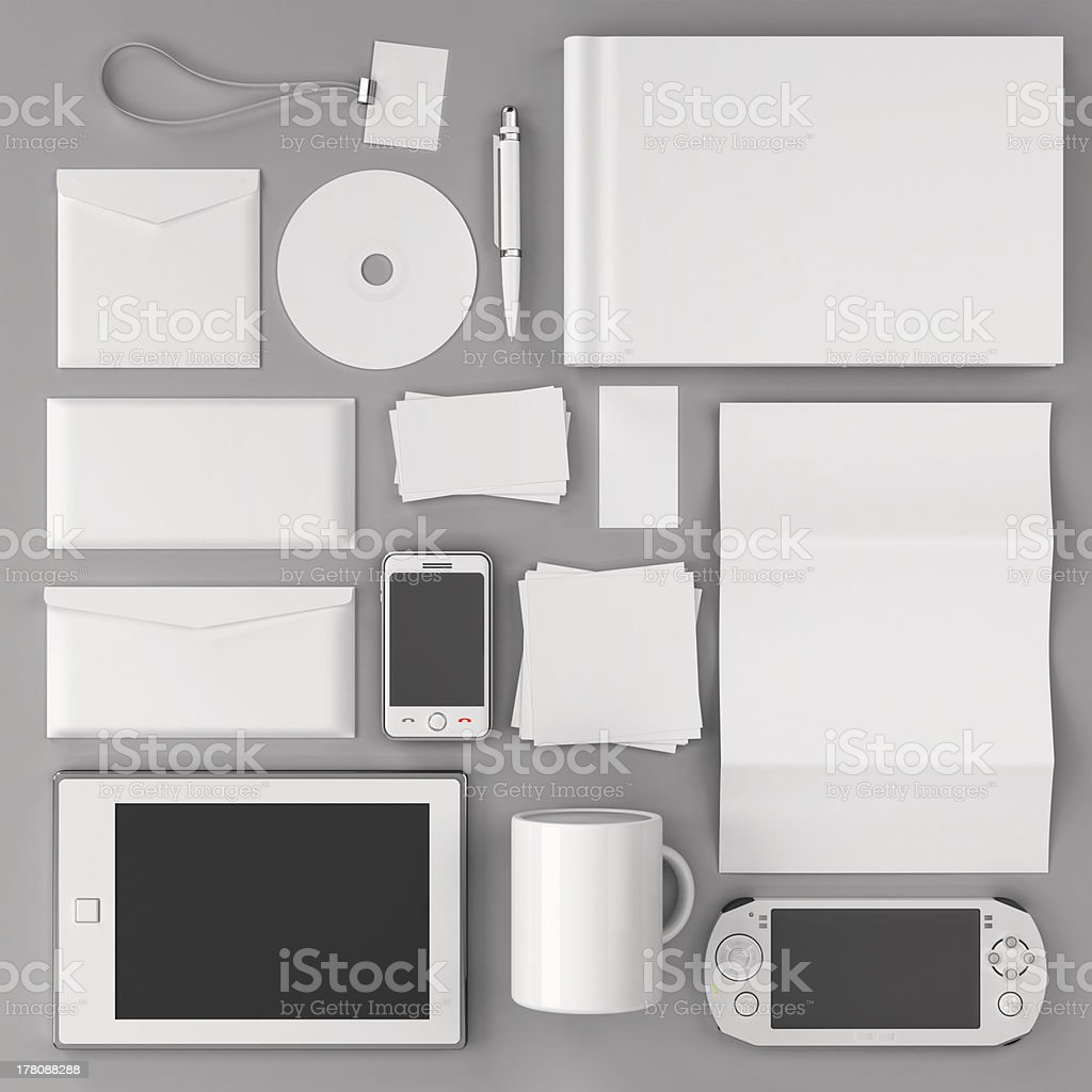 Corporate identity templates stock photo
