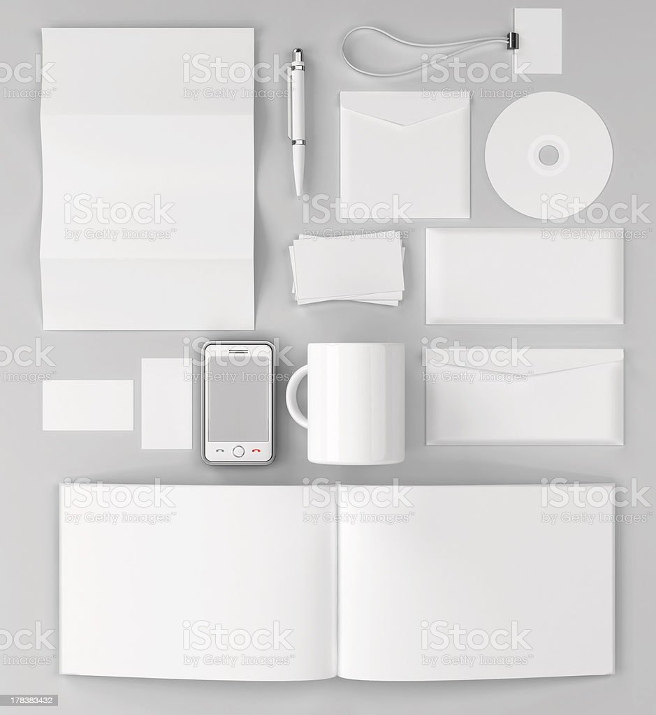 Corporate identity templates. stock photo