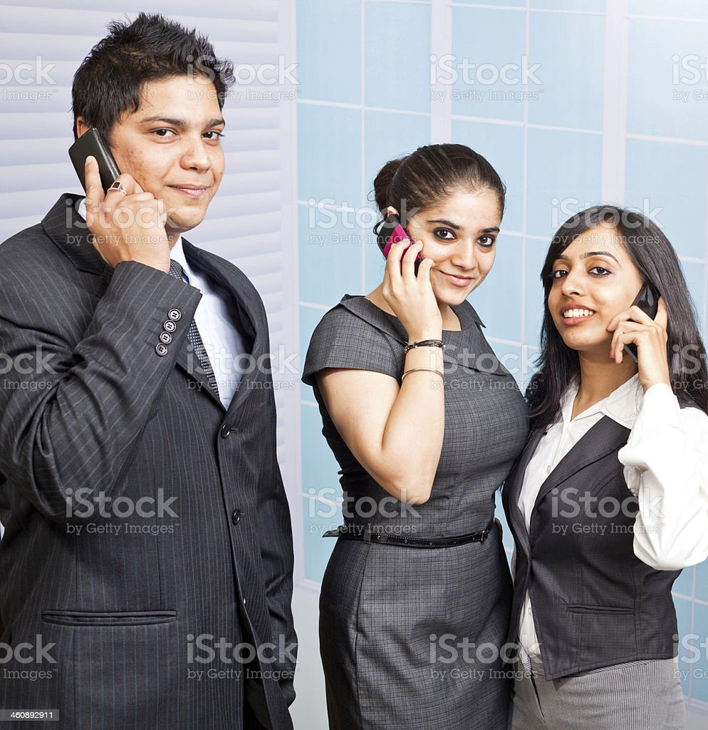 Corporate Indian Business Team Person on the Phone royalty-free stock photo