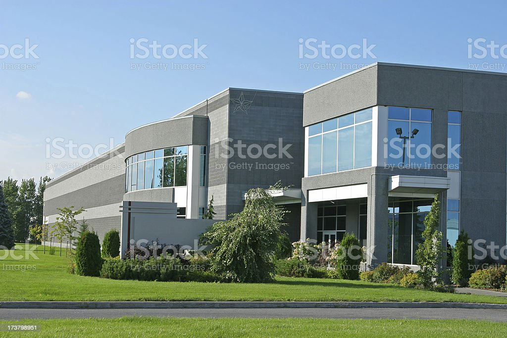 Corporate Industrial Building royalty-free stock photo