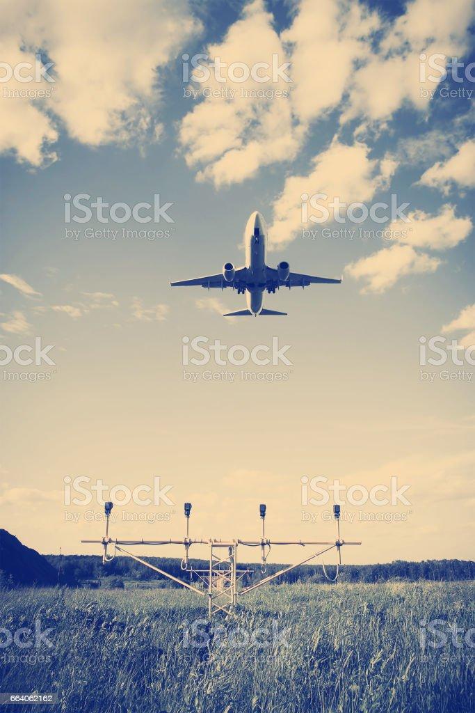 corporate jet airplane stock photo