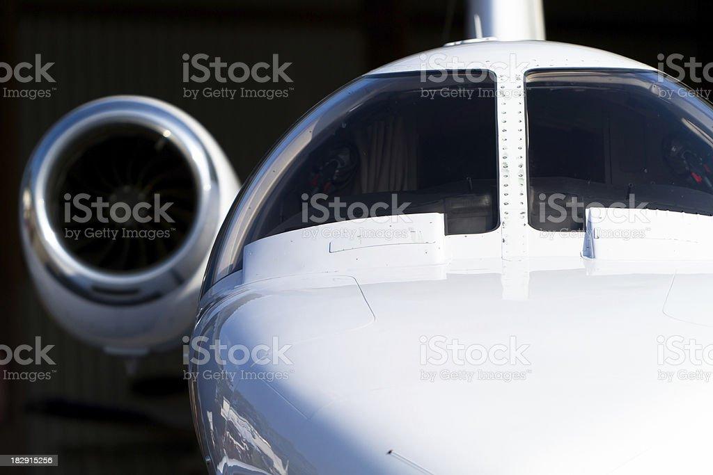 Corporate Jet Close-up stock photo