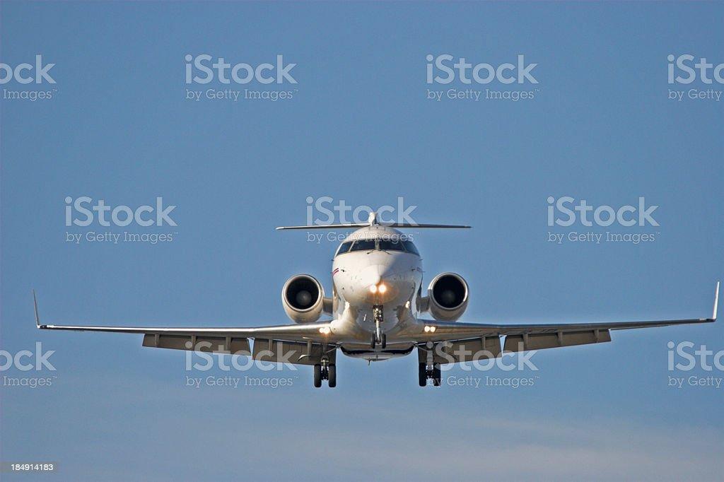 corporate jet head on royalty-free stock photo