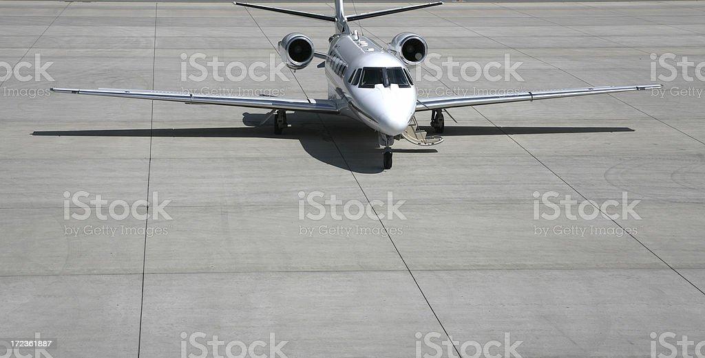 Corporate jet. stock photo