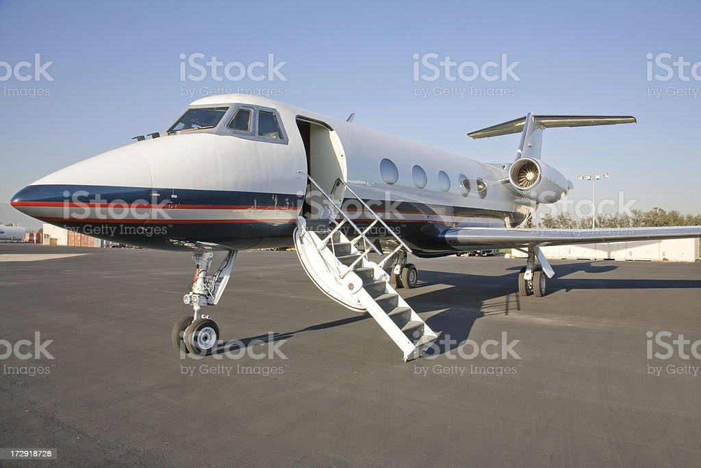 Corporate Jet with the door open royalty-free stock photo