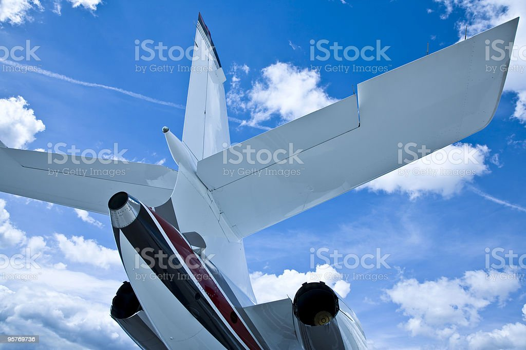 Corporate Jet's Tail royalty-free stock photo