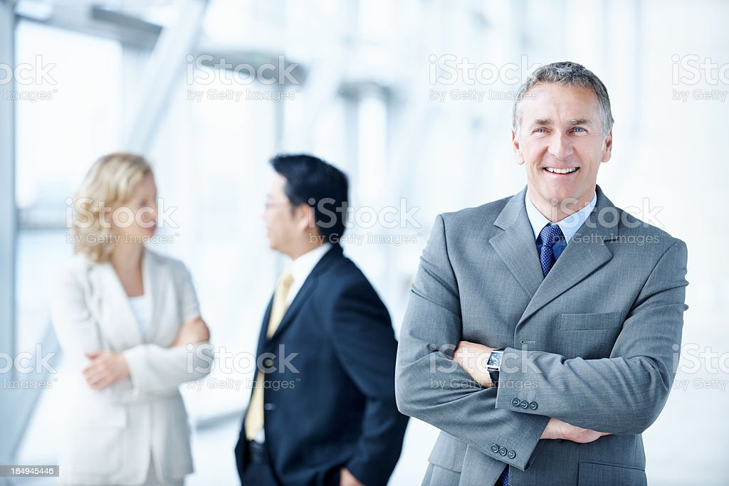 Corporate leader with self-belief royalty-free stock photo