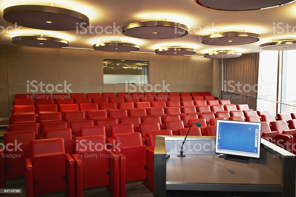 Corporate lecture hall stock photo