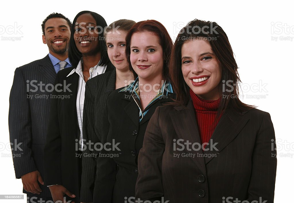 Corporate Lineup royalty-free stock photo