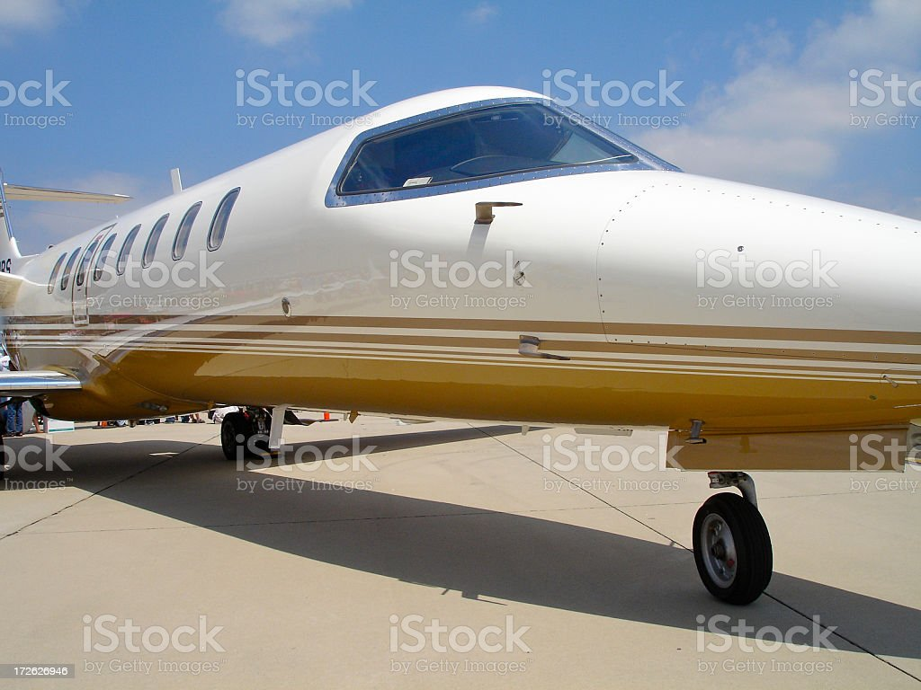 Corporate Luxury Jet Close Up stock photo