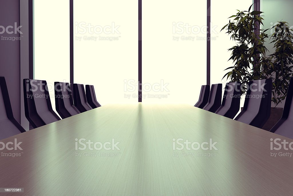 Corporate meeting room royalty-free stock photo