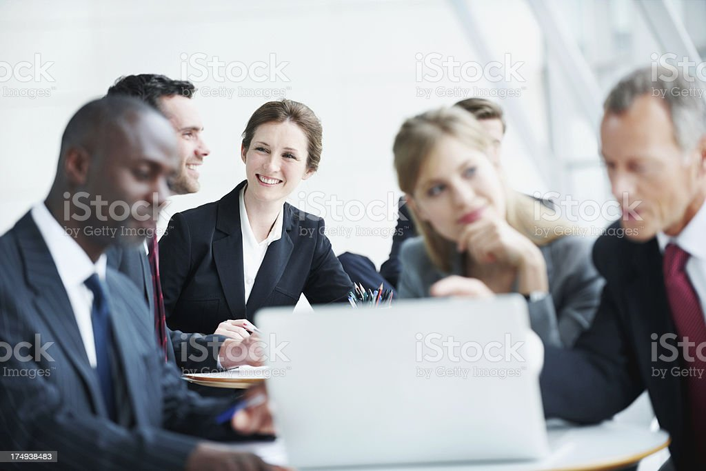 Corporate minds hard at work royalty-free stock photo