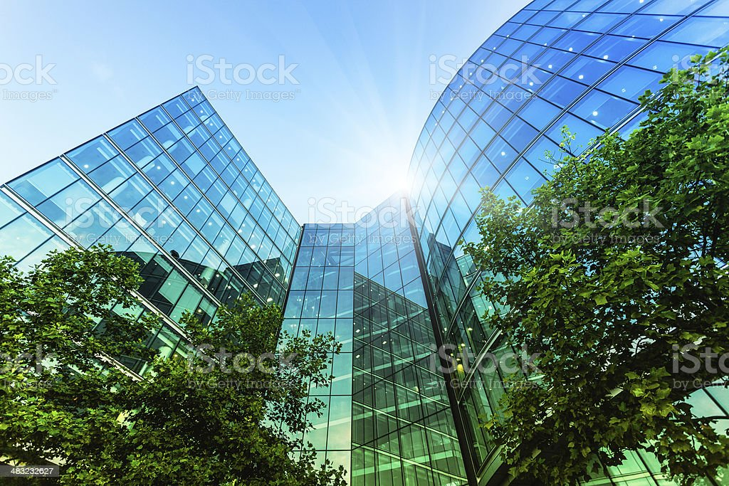 Corporate Modern Offices Building in London stock photo