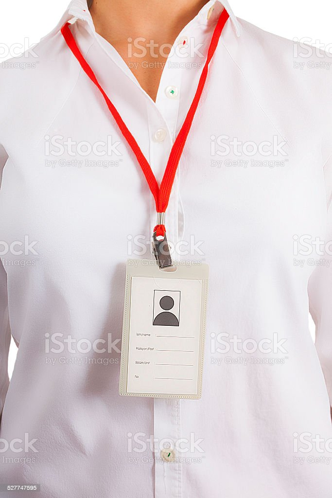corporate name tag stock photo