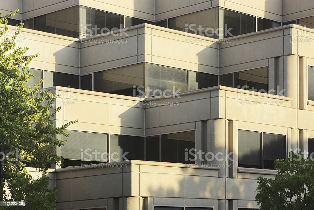 Corporate Office Building Balcony Window Corners royalty-free stock photo