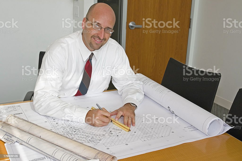 Corporate Office Employee royalty-free stock photo