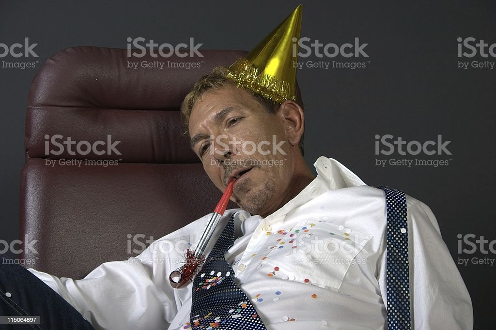 corporate party hangover/2 stock photo